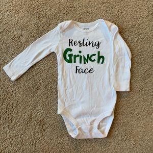 """""""Resting Grinch Face"""" onesie"""